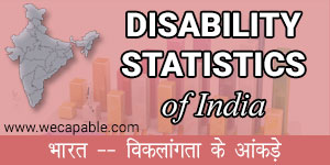 disability statistics of India