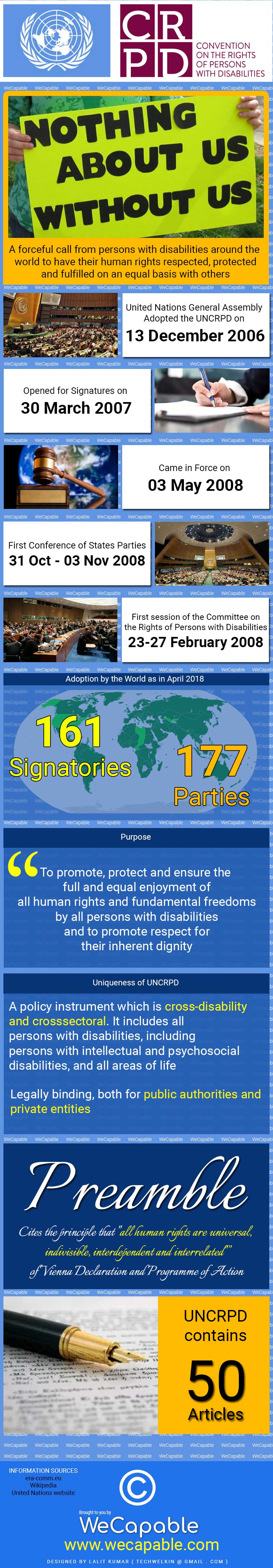 UNCRPD Infographic, Important Points, Summary