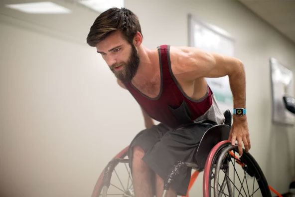 An active wheelchair user.