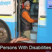 Banner image showing a person climbing into a public bus.