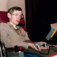 Stephen Hawking in 1986. Photo by Associated Press.