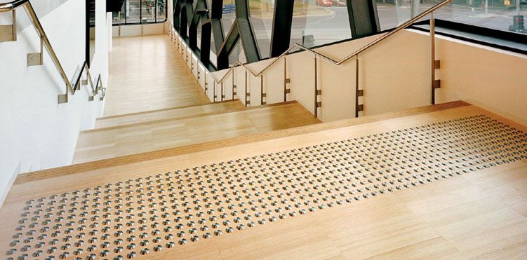 tactile flooring indicator to help visually impaired people