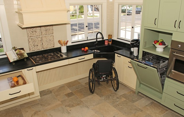 Image showing a wheelchair accessible kitchen.