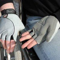wheelchair accessories: hand gloves
