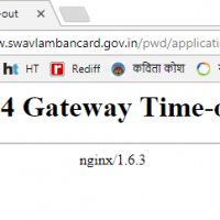 504 Gateway Time-out error while registring for UDID card