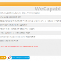 udid registration confirmation screen for application