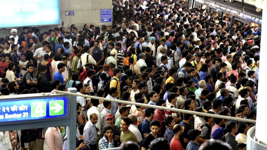 delhi metro accessibility: stations can be very crowded during peak hours.
