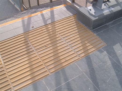 across stripe tactile paving