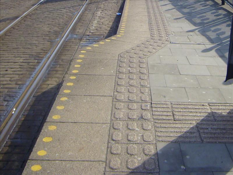 lozenge shaped tactile paving