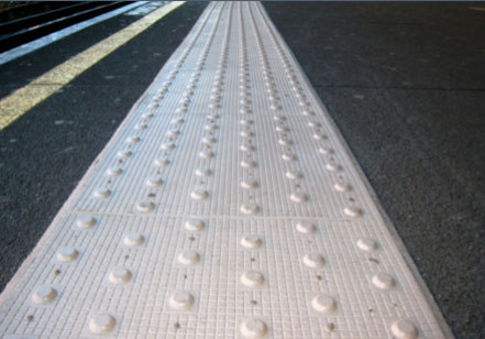offset blisters tactile paving meaning