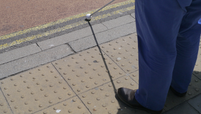 Parallel square grid blisters tactile paving meaning