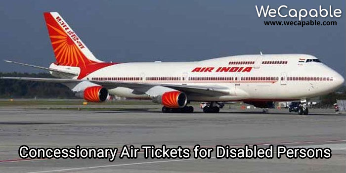 concessionary air tickets for disabled persons