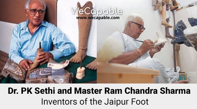 Dr. PK Sethi and Ram Chandra Sharma: founders and inventors of jaipur foot prosthetic leg