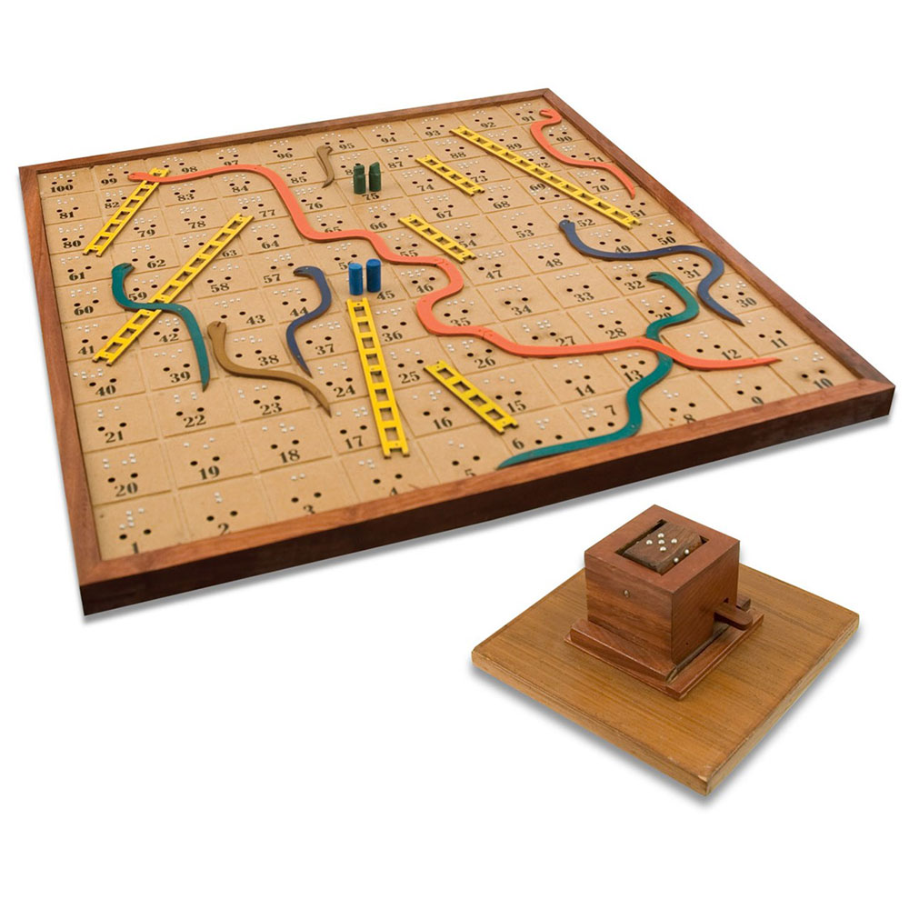 fun activities for the blind people. Snakes and ladders board game for the blind