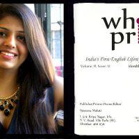 upasana makati and her white print magazine