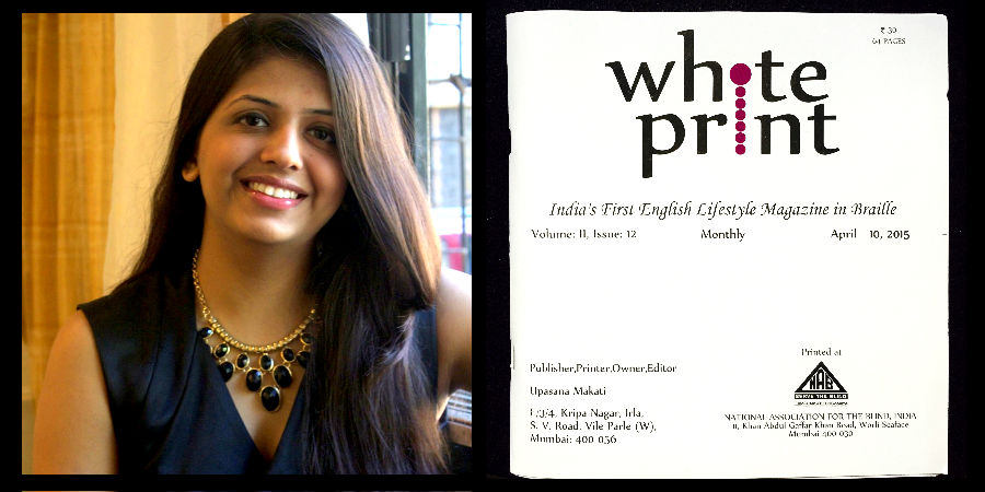 upasana makati and her white print magazine