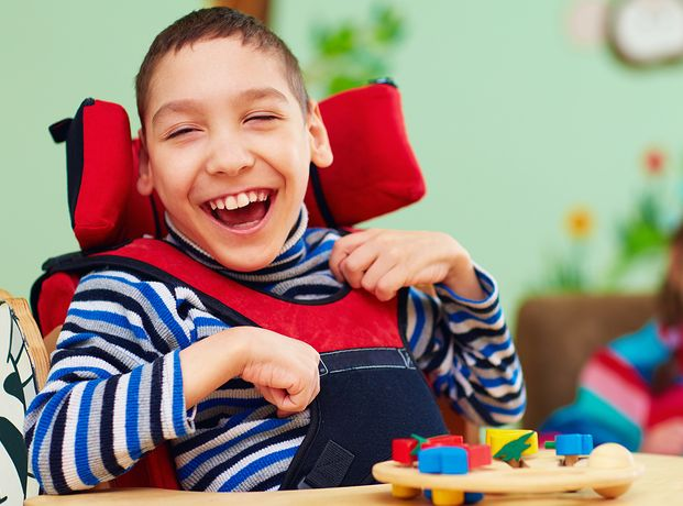 a child affected with cerebral palsy