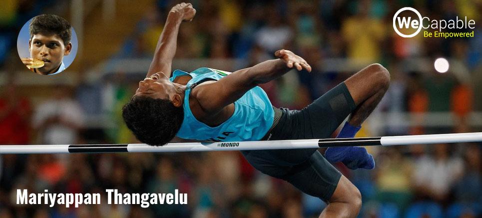mariyappan thangavelu is a famous indian paralympian