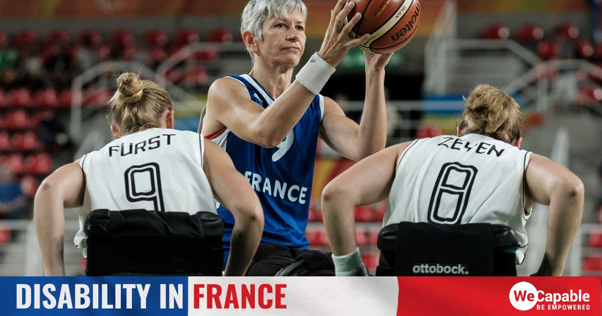wheelchair basketball players in France