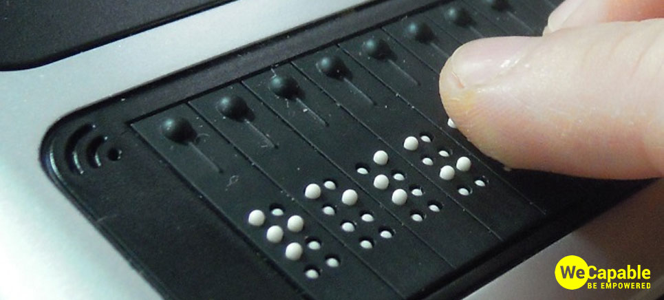 an example of refreshable braille display