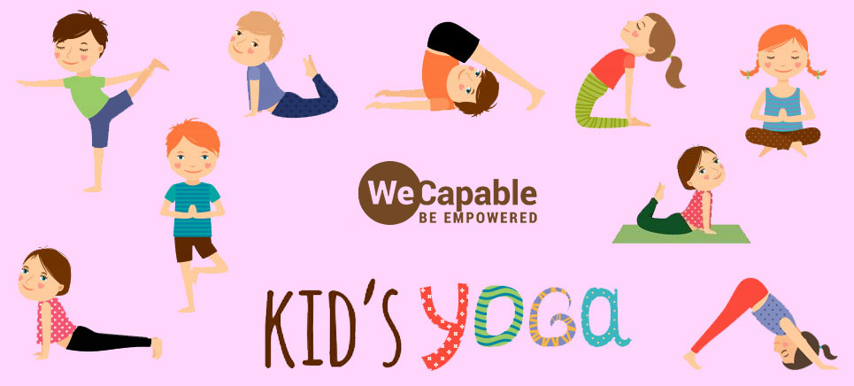 illustration of yoga for children with special needs