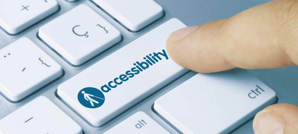 accessibility feature image showing a computer keyboard