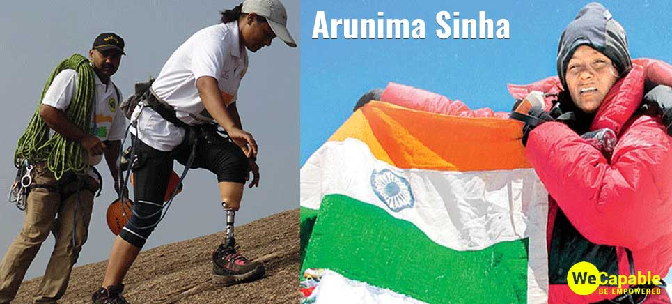 arunima sinha is an Indian mountain climber