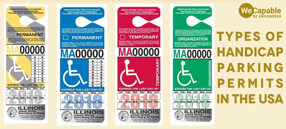 handicap parking permit types