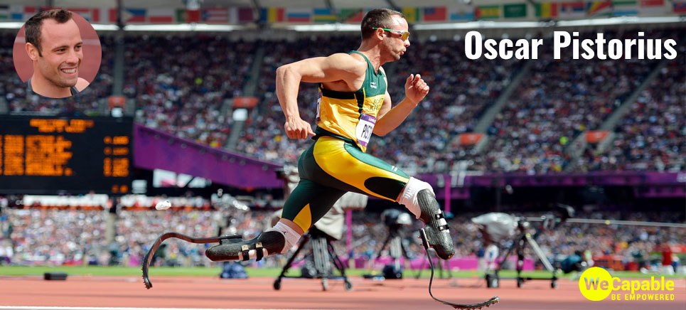 Photograph of Oscar Pistorius also known as the blade runner