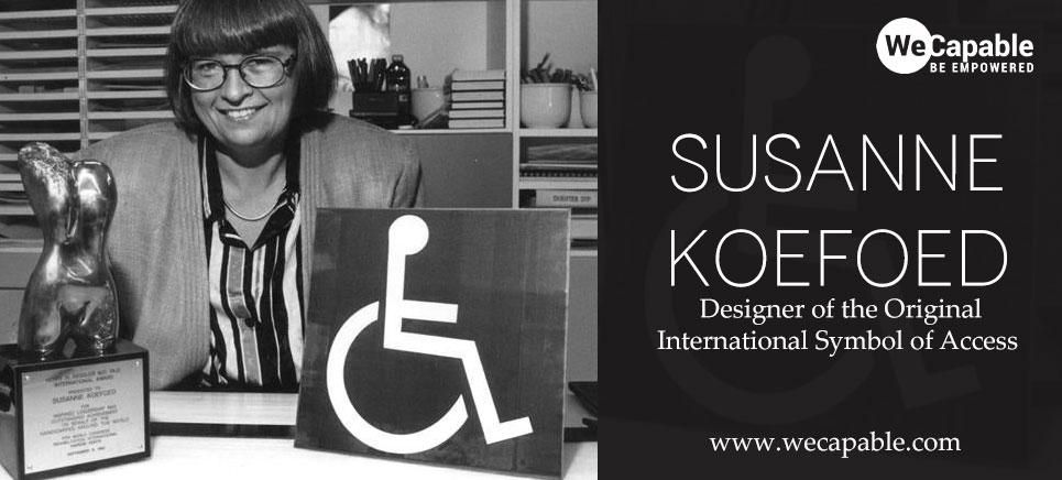 Photograph of Susanne Koefoed - the designer isa wheelchair symbol