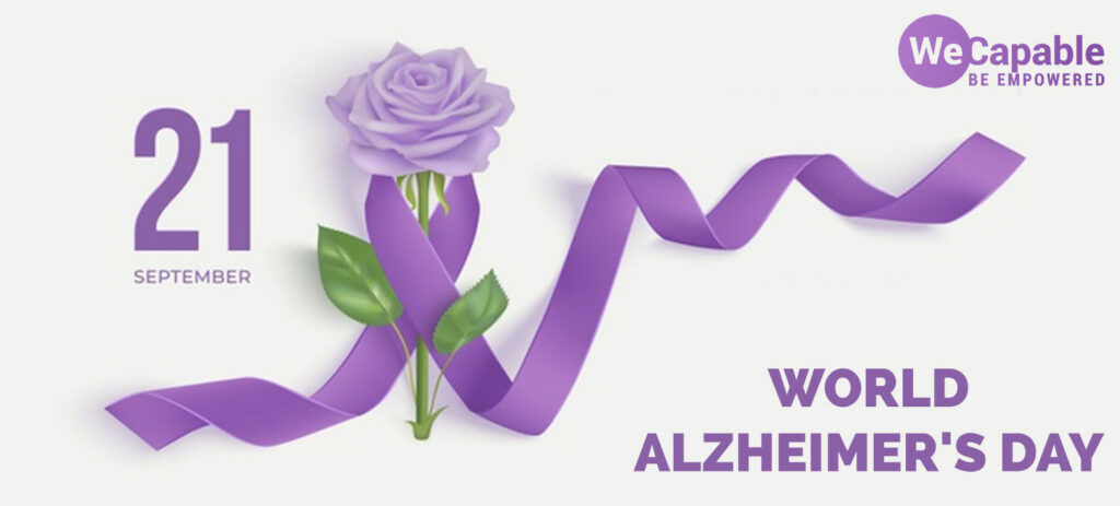 The theme color of world alzheimers day is purple