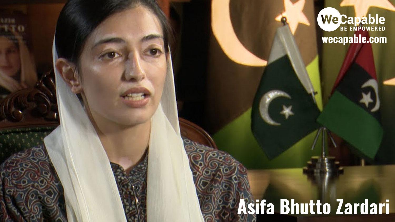 photograph of asifa bhutto zardari
