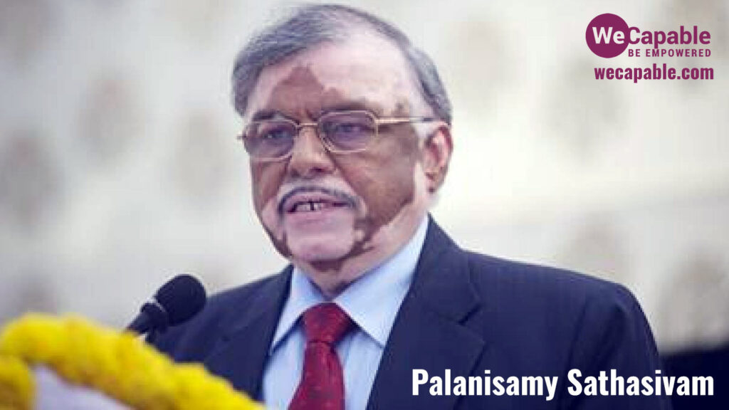 photograph of palanisamy sathasivam with vitiligo patches visible.